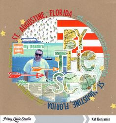 """Layout by Kat Benjamin uses the """"Open Letter Alpha"""" cut file from The Cut Shoppe."""