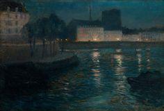 Frits Thaulow (1847-1906), Atmosphère du Soir - 1893