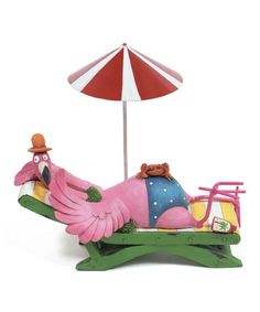 Another great find on #zulily! Lounging Flamingo II Figurine #zulilyfinds