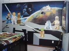 This Lego Star Wars bedroom. | Community Post: The 32 Geekiest Bedrooms Of All Time