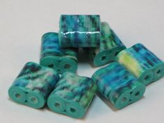 Paper beads 2 hole beads double hole beads by SunshineJStudio