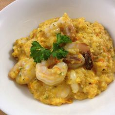 ThermoFun – Red Curry Prawn Risotto Recipe Main Course with onions, spring onions, garlic cloves, red chili peppers, cilantro leaves, parsley leaves, red curry paste, olive oil, carrots, red capsicum, coconut milk, water, stock, arborio rice, pepper, prawns