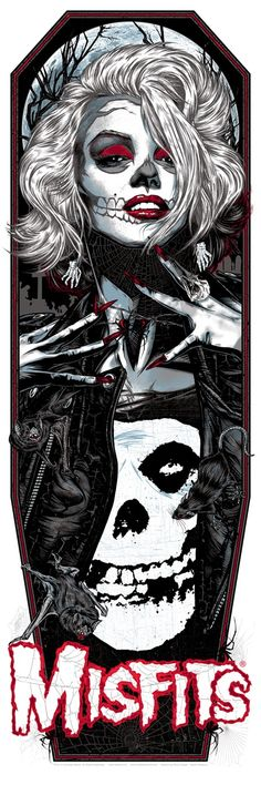 Misfits Valentine's Day Poster by Rhys Cooper (via Inside the Rock Poster Frame)