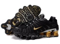 f3e18a8f11a2 Men s Nike Shox TL Shoes Black Gold Silver New Release