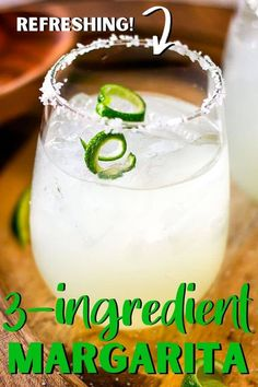 Make this delicious and refreshing Limeade Margarita Recipe right at home with just 3 simple ingredients! Bhg Recipes, Tapas Recipes, Kitchen Recipes, Party Recipes, Mexican Margarita Recipe, Margarita Recipes, Cocktail Recipes At Home, Limeade Margarita, Limeade Recipe