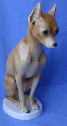 "10"" MINIATURE PINSCHER MIN PIN HUTSCHENREUTHER GERMANY | Collectibles, Animals, Dogs | eBay!"