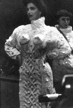 Jean Paul Gaultier knitted Aran sweater