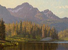 """Jay Moore """"Lake Irwin"""" 12""""16"""" Oh-Be-Joyful Gallery www.ohbejoyfulgallery.com"""
