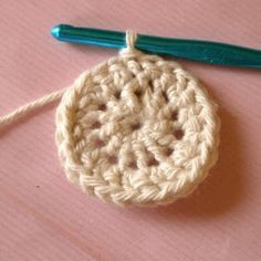 How to crochet a perfect circle starting with a magic loop. Great tutorial with great pics and details as to where you would insert your hook.