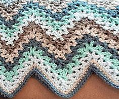 If you haven't tried the V-Stitch yet then you are missing out on some great crochet fun! 45 V-Stitch Crochet Afghan Patterns presents you with the best of this crochet stitch. V Stitch Crochet, Crochet Motifs, Crochet Stitches Patterns, Crochet Chart, Free Crochet, Stitch Patterns, Chevron Crochet, Crochet Baby, Single Crochet