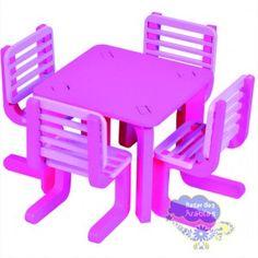 mesa com cadeiras linha moderna