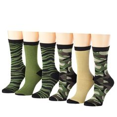 Tipi Toe Women`s 6 or 12 Pack Colorful Patterned Crew Socks - List price: $19.99 Price: $9.99 Saving: $10.00 (50%)