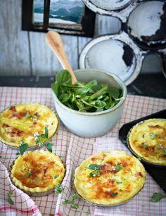 Ofeturli-Tartelettes mit Feldsalat