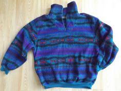 Aztec 90s Fleece Pullover Off Brand Patagonia Style 90s Fleece by FleecenStuff on Etsy