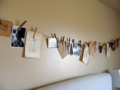 love this for pictures, postcards, pretty vintage book pages and more. Office, family room, stairwell? - definitely going to do this for my family room with kids and family pictures