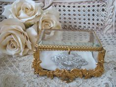 Gorgeous Antique French Jewelry Box Casket Box by AVintageTreasure, $425.00