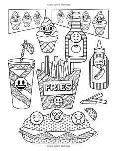 Emoji World Coloring Book: 24 Totally Awesome Coloring Pages Emoji Coloring Pages, School Coloring Pages, Cute Coloring Pages, Doodle Coloring, Printable Coloring Pages, Free Coloring, Adult Coloring Pages, Coloring Pages For Kids, Coloring Sheets
