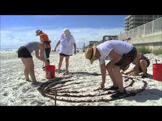 Family Creates Giant Olaf at the Beach to Celebrate Disney Side « Disney Parks Blog