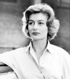 actrice française ᘛ anouk aimée par peter basch I(b. paris I932) retro vintage portrait great french actress