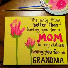 Cute Homemade Mother's Day Gifts | Homemade Gifts / Cute Mother's Day gift for grandma.