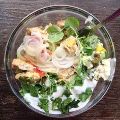 Salada de Perú com Pepino, Pimento e Endívias