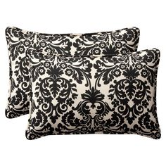 Set Of 2 Rectangle Toss Pillows In Black & Beige http://www.beyondtherack.com/member/invite/B7C53751