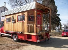 Corrugated roof that wraps around is interesting ____________________________  HouseTruck based on Firetruck