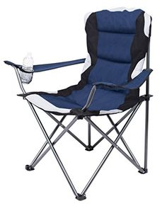 Internet's Best Padded Camping Folding Chair | Outdoor | Navy Blue | Sports | Cup Holder | Comfortable | Carry Bag | Beach | Quad. For product & price info go to:  https://all4hiking.com/products/internets-best-padded-camping-folding-chair-outdoor-navy-blue-sports-cup-holder-comfortable-carry-bag-beach-quad/