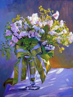 Wedding Bouquet Art Print by David Lloyd Glover. All prints are professionally printed, packaged, and shipped within 3 - 4 business days. Matisse, Thing 1, Purple Flowers, Flower Art, Still Life, Wedding Bouquets, Fine Art America, Illustration Art, Art Prints