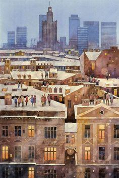 City-trough-artist-eyes.-Realistic-magic-in-watercolors-by-Tytus-Brzozowski__880