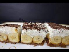 Ciasto idealne do kawki! Banalny przepis! Wyjdzie każdemu! Jak zrobić ciasto Banoffee - YouTube Tiramisu, Ethnic Recipes, Eat, Food Ideas, Youtube, Skinny, Tiramisu Cake, Youtubers, Youtube Movies