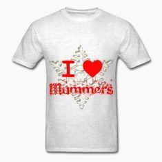 I HEART MUMMERS SNOWFLAKE Mens T Shirt