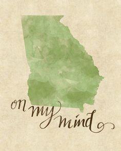 Georgia On My Mind print