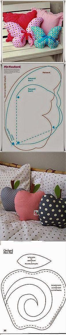 New ideas for sewing tutorials pillows projects Fabric Crafts, Sewing Crafts, Sewing Projects, Diy Projects, Sewing Hacks, Sewing Tutorials, Sewing Patterns, Pillow Patterns, Cute Pillows