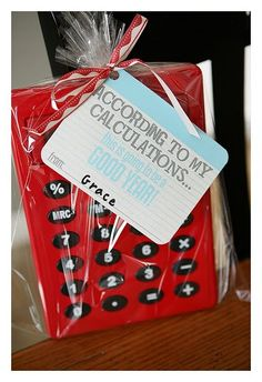 "Calculator Teacher Gift - ""According to my calculations..."""