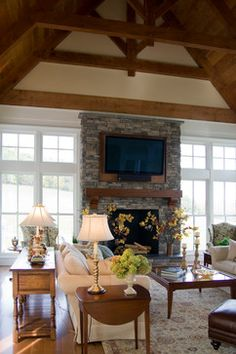 Laurel Highlands - traditional - living room - other metro - Beyond Ordinary Boundaries Architecture