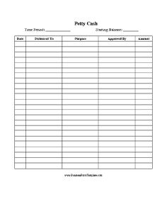 a printable form on which to record daily sales in a retail store