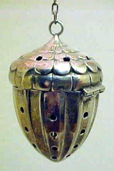 Not a Pot but I sure do love this Tea ball in Shape of an Acorn