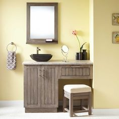 Bathroom Vanity With Makeup Area bathroom vanity with makeup vanity attached | choice of sink and