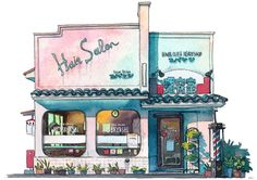 """""""Matto,"""" as he's called in Japan, seriously impresses with his delicately colored illustrations of Tokyo shops."""