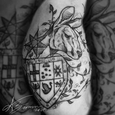 Sketch style deconstructed Australia coat of arms tattoo by adam zimmer Coat Of Arms, Arm Tattoo, Sketch, Australia, Inspired, Tattoos, Style, Arm Tattoos, Sketch Drawing