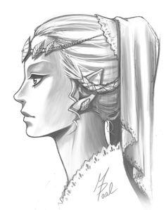 zelink-fans:  Princess Zelda Portrait by Tyaren