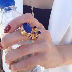 Loving @popsugar's @lindsaylmiller #YSL ring and gorgeous mani @popsugarbeauty #Padgram