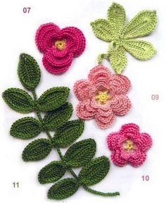 Cmo hacer una guirnalda de flores en ganchillo Crochet flower
