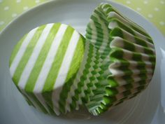 Lime Green Candy Cane Cupcake Liners - Baking Cups (50). $4.00, via Etsy.
