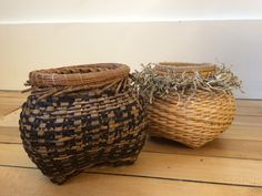 Two variations on a cathead basket by Laura Weber