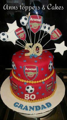 Arsenal birthday cake