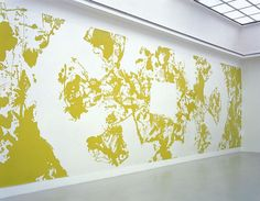 INGRID CALAME  Secular Response 2 A.H., 2004  Enamel paint on mylar  12 feet 6 inches X 98 feet X 30 inches