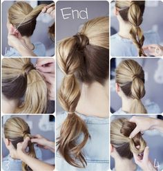 This is my absolute favorite quick and easy back to school hairstyle. So when in in a hurry but I want to make my hair look nice this is absolutely my favorite hairstyle!