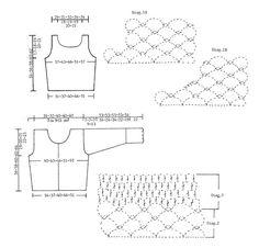 """DROPS 81-22 - DROPS Gehaakte top en vest van """"Cotton Viscose"""". Maat XS - XXL. - Free pattern by DROPS Design"""